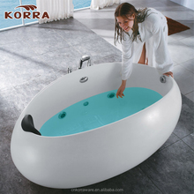 Freestanding Massage Bathtub, Electrical control panel, water level detection family domestic Indoor Tub hotel bathtub