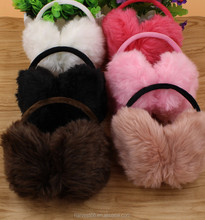 2015 Winter Multicolour Rabbit Fur Warm Thermal Earmuffs For Female