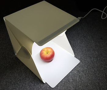 Folding Mini Photography LED Lightbox photo Studio for phone or camera