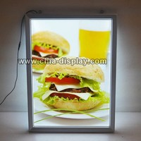 Snap open aluminum led sign display board menu board kfc