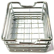 rectangle stainless steel food cone holder/container/tray restaurant use