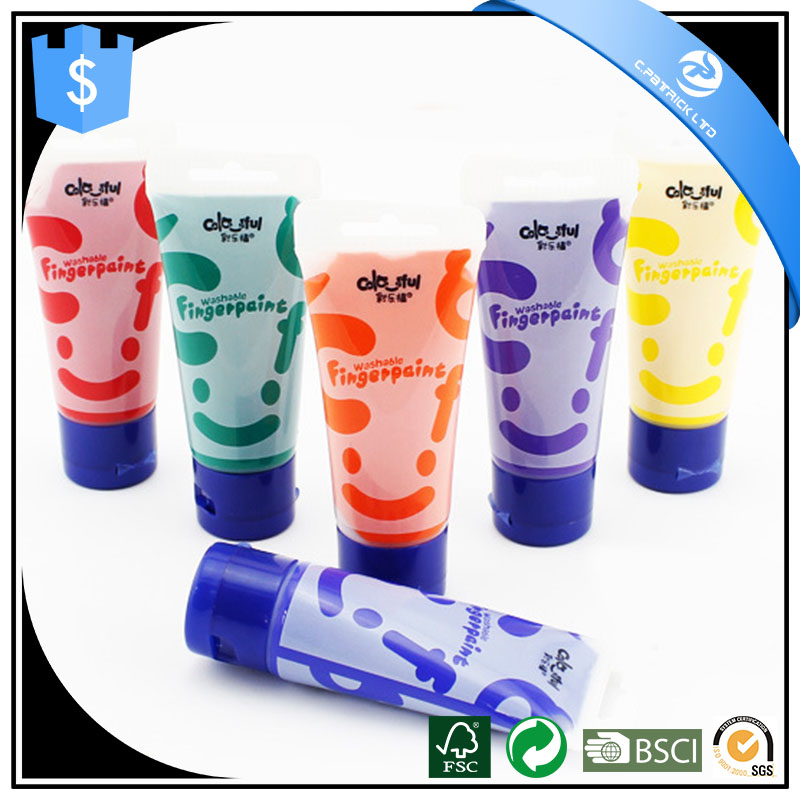6 colour Finger paint DIY acrylic paint set for children