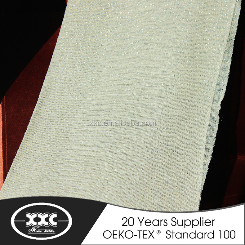 Excellent quality high-end grade 100 % polyester heavy linen curtain fabric