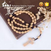 Professional design delicate wooden bead crochet rosary