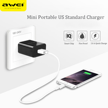 Awei C-600 Universal US Standard Portable 5V 2.0A USB Quick Charge Wall Charger