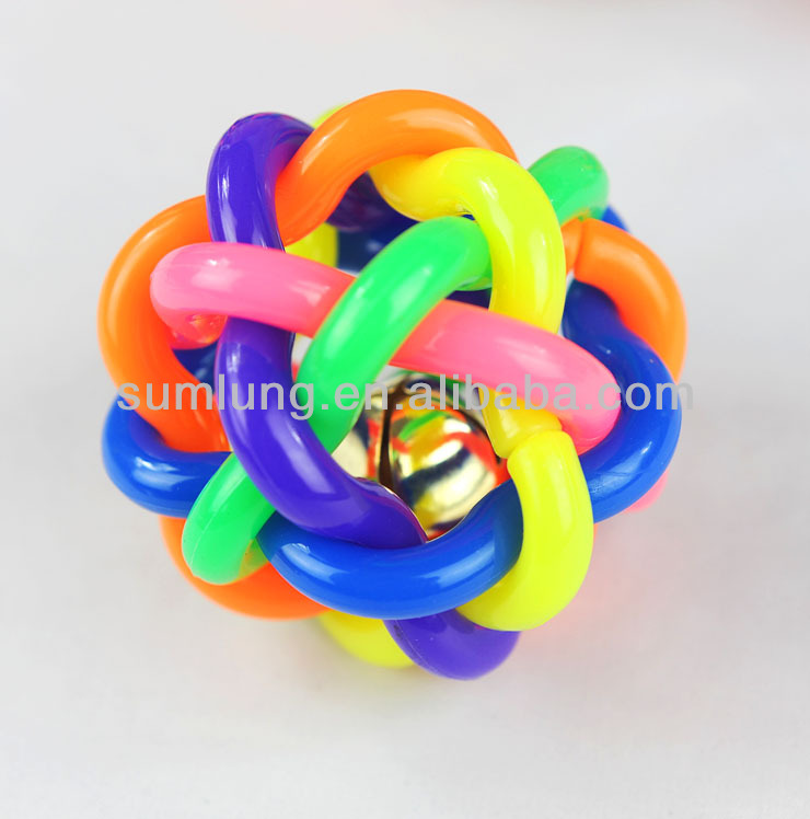 Colorful Soft Rubber Audible Ball, Joyful Toy for Pet 1/3