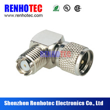 Nickel plated UHF male to female adapter right angle RF connector/cable uhf to vhf converter