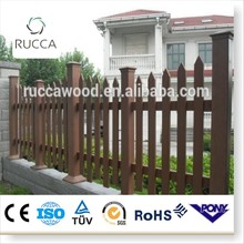 2016 WPC wood no dig wood fence panels wholesale from Foshan China factory directly sale