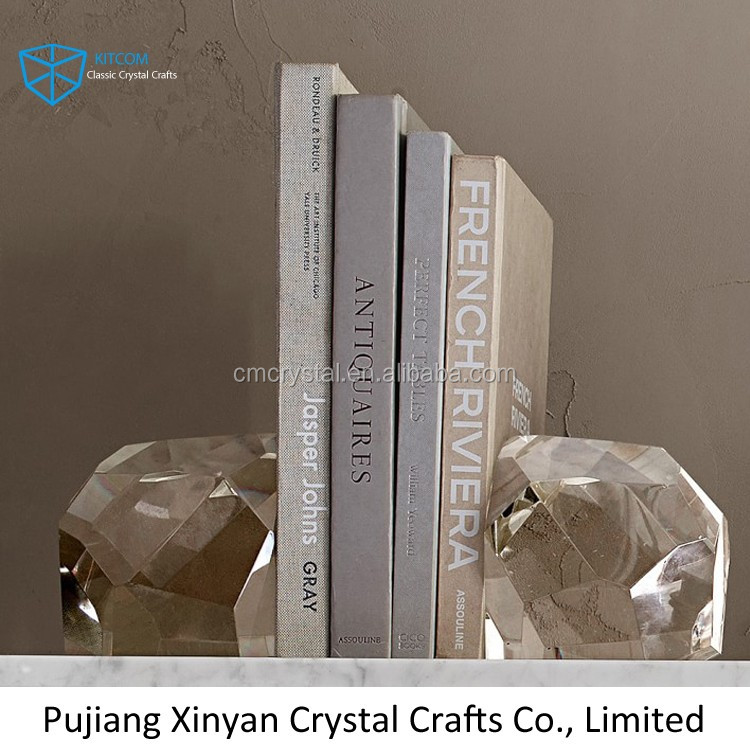 New coming crystal bookends for business gift