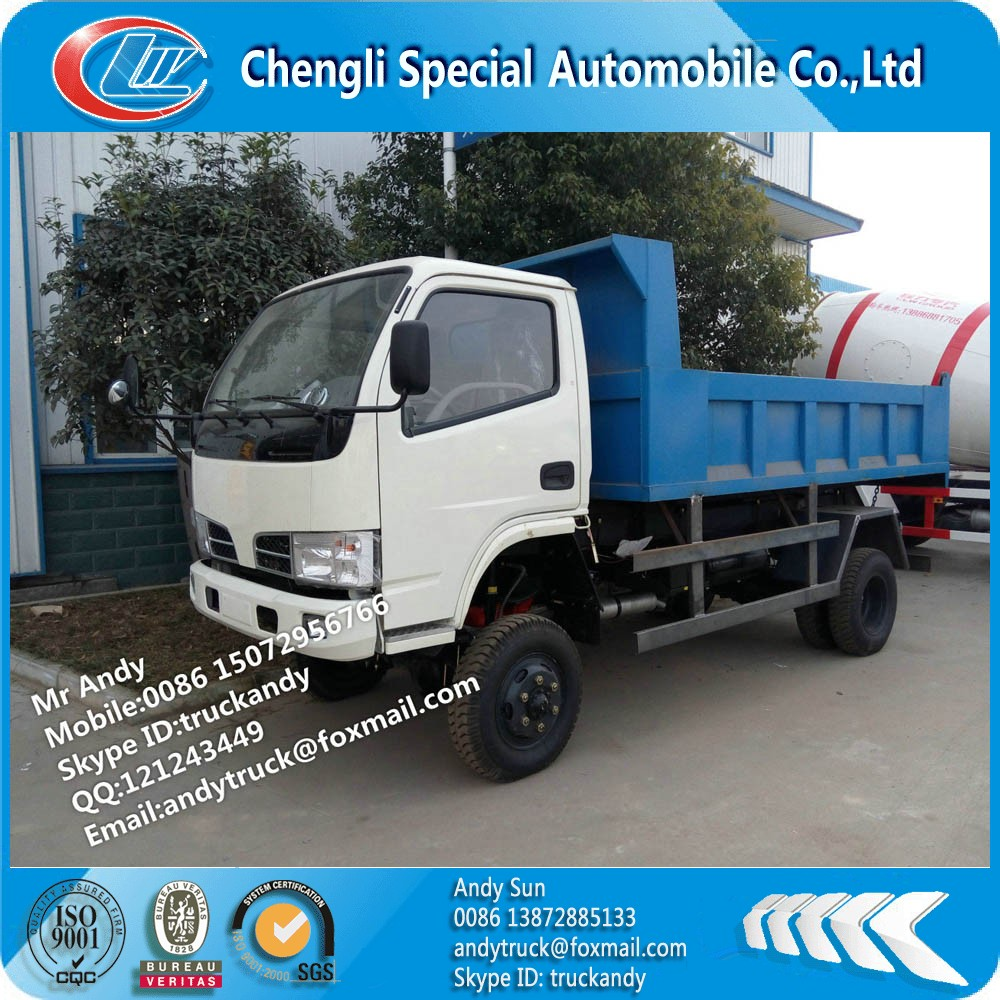 Dongfeng mini 4x4 off road tipper truck
