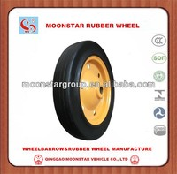 14 inch solid rubber wheel for wheelbarrow