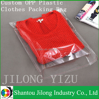 Recyclable Shirt Packing Transparent Opp Bag