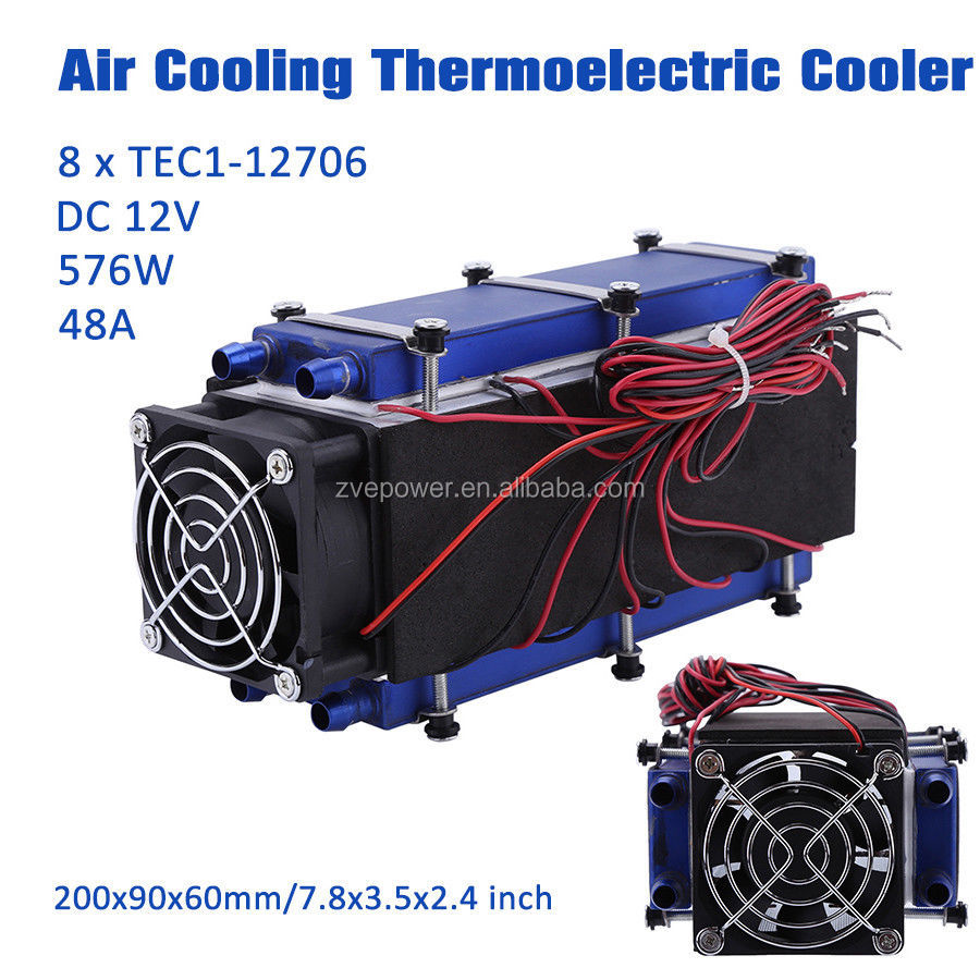12V 567W 8 Chip TEC1-12706 Thermoelectric Peltier Refrigeration Cooling System