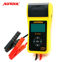 Free shipping Multi-language BT660/BT-660 12V/24V diagnostic analyzer digital battery tester with printer MICRO-568