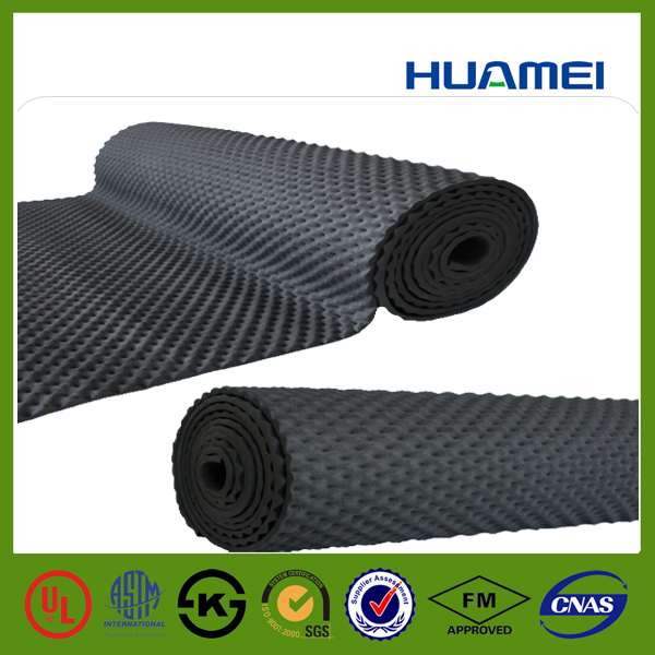 Sound absorbing close cell rubber foam board with noise reduction