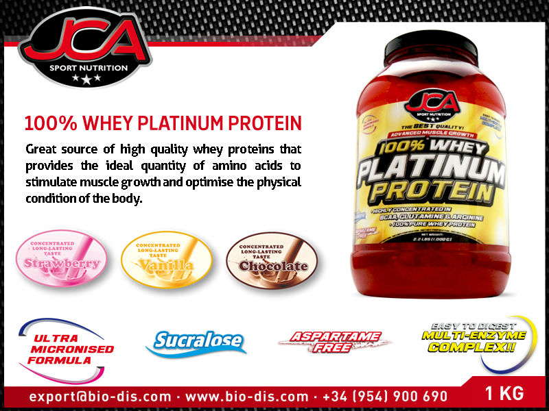 Whey Platinum Protein 2.2 LBS (1 Kg) - Sport supplement