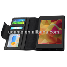 Stand Leather Case for Google Nexus 7 2nd Generation With Pen Holder