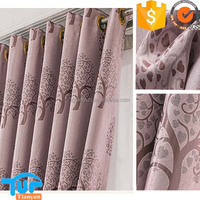 double jacquard woven fabric for curtain ,newest china pattern heavy curtain fabric