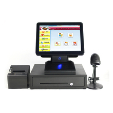 Supermarket shopping malls cash register printer cash box scanner one machine 1619 suit POS Systems