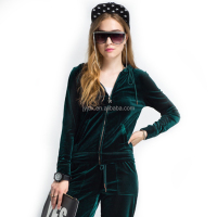 Custom Ladies Casual Velour Tracksuit