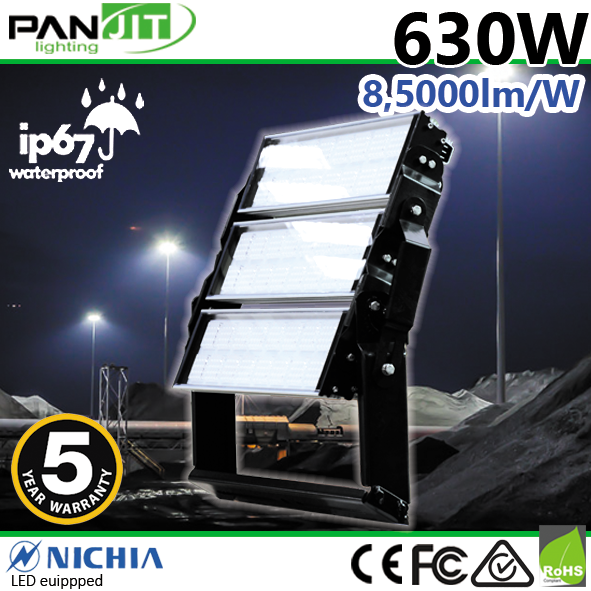 600W Outdoor LED Flood Light IP65 IP67