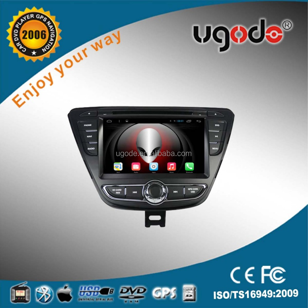 ugode factory supply 7 inch android car stereo for hyundai elantra 2014 car kit bluetooth mp3 player
