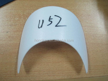 curved plastic insert for hat brim