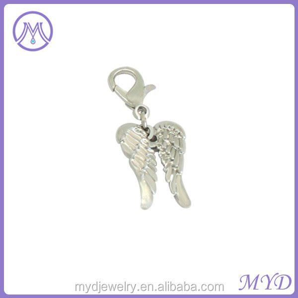 custom silver wholesale angel wing charms for bracelet from shenzhen