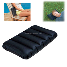 black rectangle shaped multi-function inflatable travel cushion for head wrist butt support