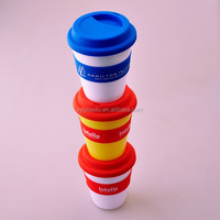 300ML Bpa Free coffee mug wholesale and Double Wall Insulated Plastic Tumbler Cup With Straw And Lid
