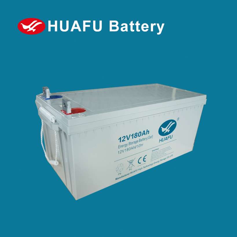 solar gel battery 12v 180ah deep cycle lead acid battery with cheap price for solar system