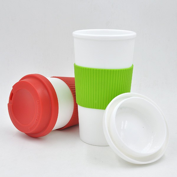 customized plastic coffee cup,travel mug with push lid bpa free