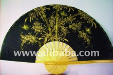 Oriental Decorative wall fans - Gold Bamboo