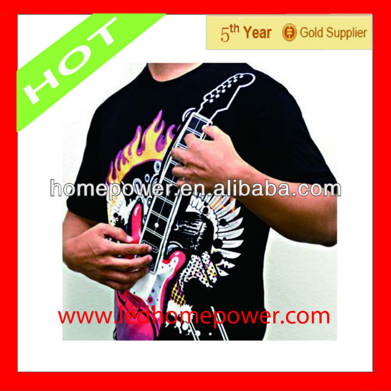 Newest fashtion music guitar t shirt