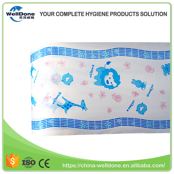 Excellent Permeability Animal Printing Pattern Blue Colored PE Film for Baby Diaper