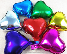 Colors Inflatable Heart Shape Foil Balloon Mylar Balloon For Party Decoration