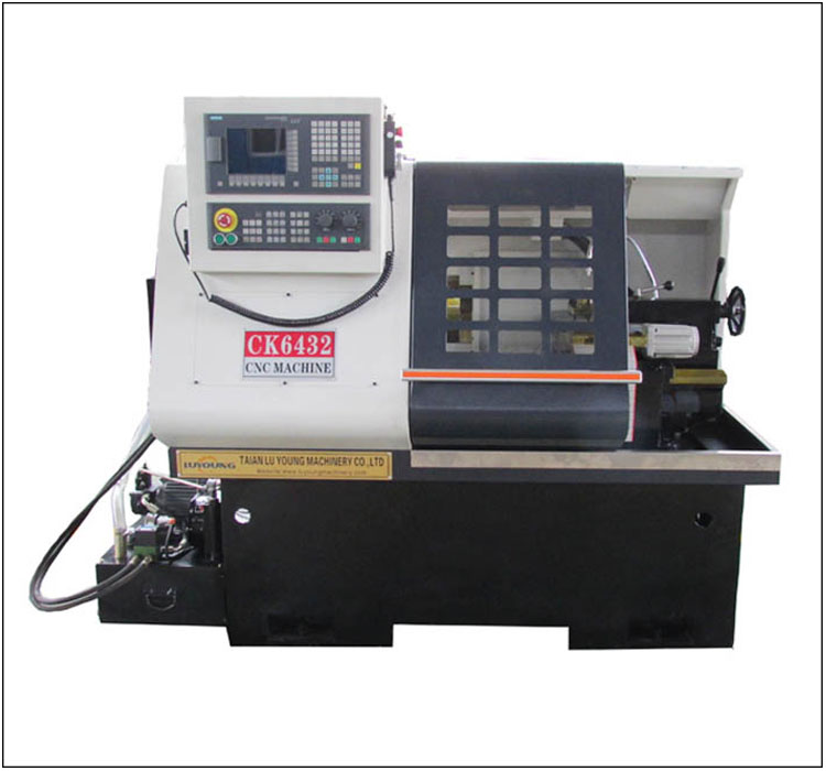 CK6432 Small CNC Lathe Machine with Manual or hydraulic chuck factory in China