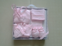 Baby gift box sets, baby wear+bib+mittens+booties+baby pant+cap