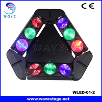 WLED 1-2 New 9 pcs 4 IN 1 RGBW 10W LED linear dmx spider moving head mini disco lights effects lighting