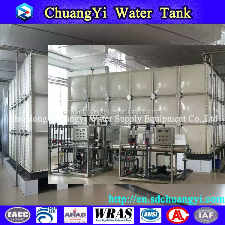 China Dezhou big frp/grp fish water tank, fish farming water tank for sale