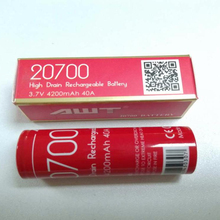 AWT Rechargeable disposable battery 20700 Lithium battery 3.7V 4200mAh 40A deep cycle electric cigarette/pen/bicycle mods