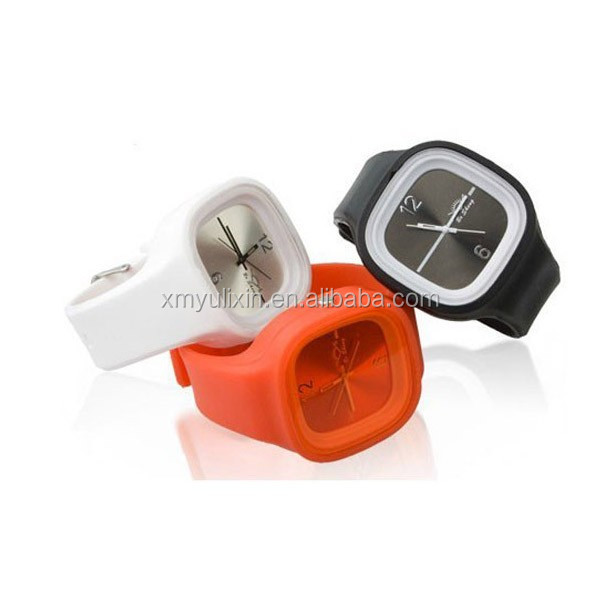 Square shape kids silicone jelly watches