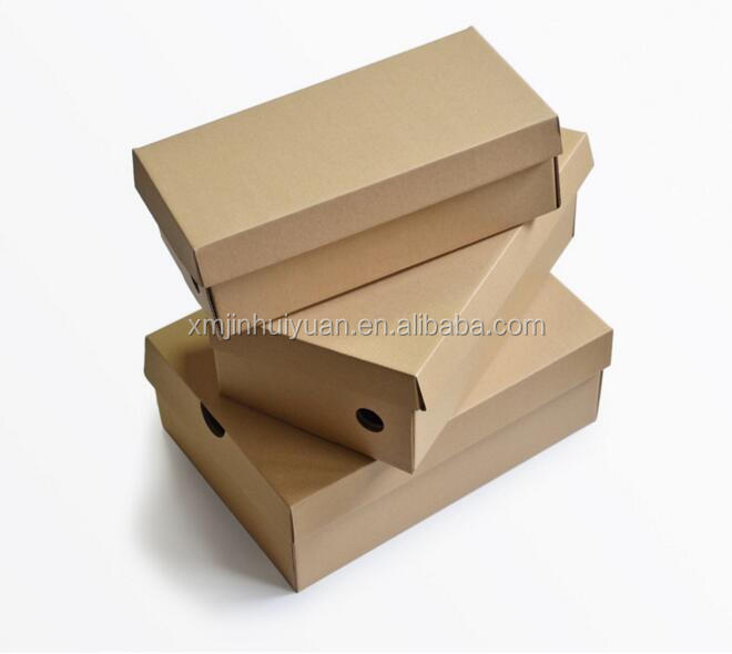 Custom Kraft Paper Corrugated Cardboard Shoes Box