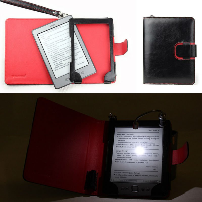 Amazon Kindle 4 Case with Light / Kindle 4 Cover Wallet with Light