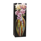 Deluxe Flowers Offset Printing Wine Gift Paper Packaging Bag Designs