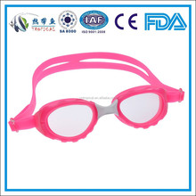 2015 Best comfortable anti-fog one piece silicone kids swimming goggles