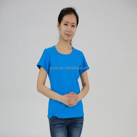 Fashion Quick Dry Fit Polyester T shirts Plain 2015