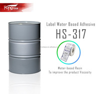 HS-317 50% solid content Acrylic acid Latex Acrylic Adhesive for label paper glue