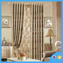 Home textile 100% Polyester Jacquard window curtain , design with flower, made in china