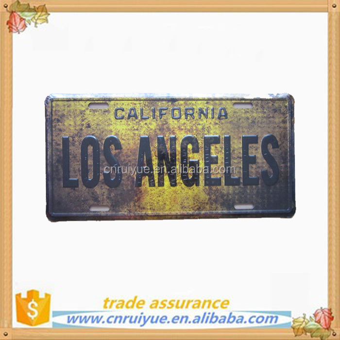 2017 Amrican embossed vintage metal tin sign car license plate 30cmx15cm